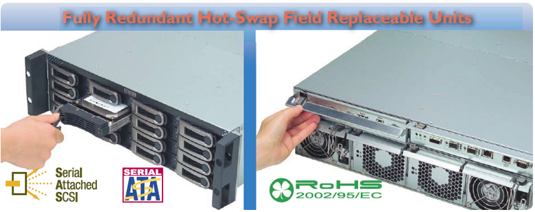 Fully Redundant Hot-Swap Field Replaceable Units